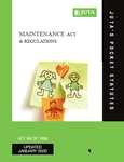 Maintenance Act and Regulations Revised reprint 2020