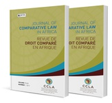 Journal of Comparative Law in Africa / Revue de Droit Compare en Afrique (print)