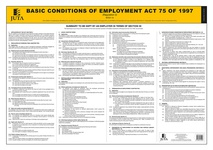 Basic Conditions of Employment Act 75 of 1997 (Regulation 2 - BCEA 1A) (Poster) Rev. 1e 2019