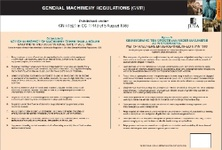 Schedule D to the General Machinery Regulations in terms of the Occupational Health & Safety Act 85 of 1993 (Poster)