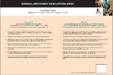 Schedule C to the General Machinery Regulations in terms of the Occupational Health & Safety Act 85 of 1993 (Poster)