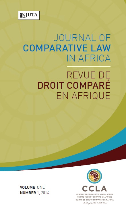*LAW CATALOGUE  > Journals - Journal of Comparative Law in Africa / Revue de Droit Compare en Afrique