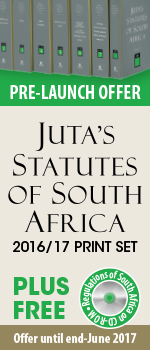 Pre-launch Offer - Juta's Statutesof South Africa 2016/17