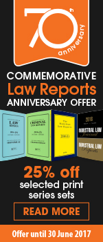 70th Anniversary Commemorative Law Reports Offer -- 25% off selected print series sets