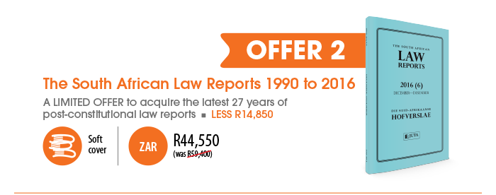 Offer 2: The South African Law Reports 1990 to 2016 -- R44550