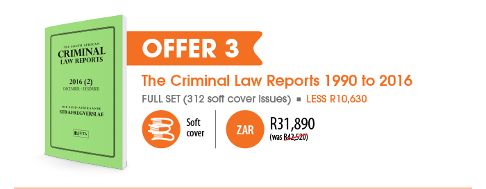 Offer 3: The Criminal Law Reports 1990 to 2016 -- R31890