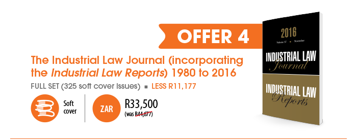 Offer 4: The Industrial Law Journal (incorporating the Industrial Law Reports) 1980 to 2016 -- R33500
