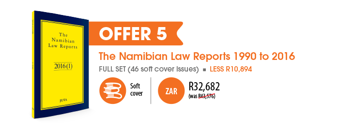 Offer 5: The Namibian Law Reports 1990 to 2016 -- R32682