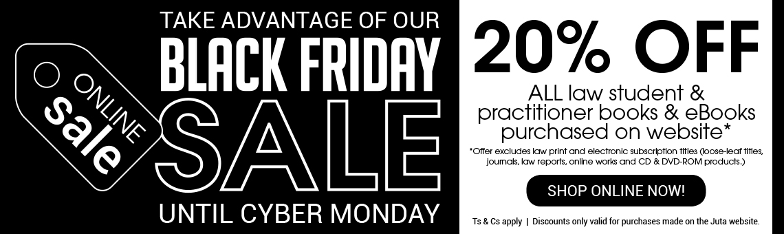 Take advantage of our Black Friday SALE! 20% OFF All Law Titles!