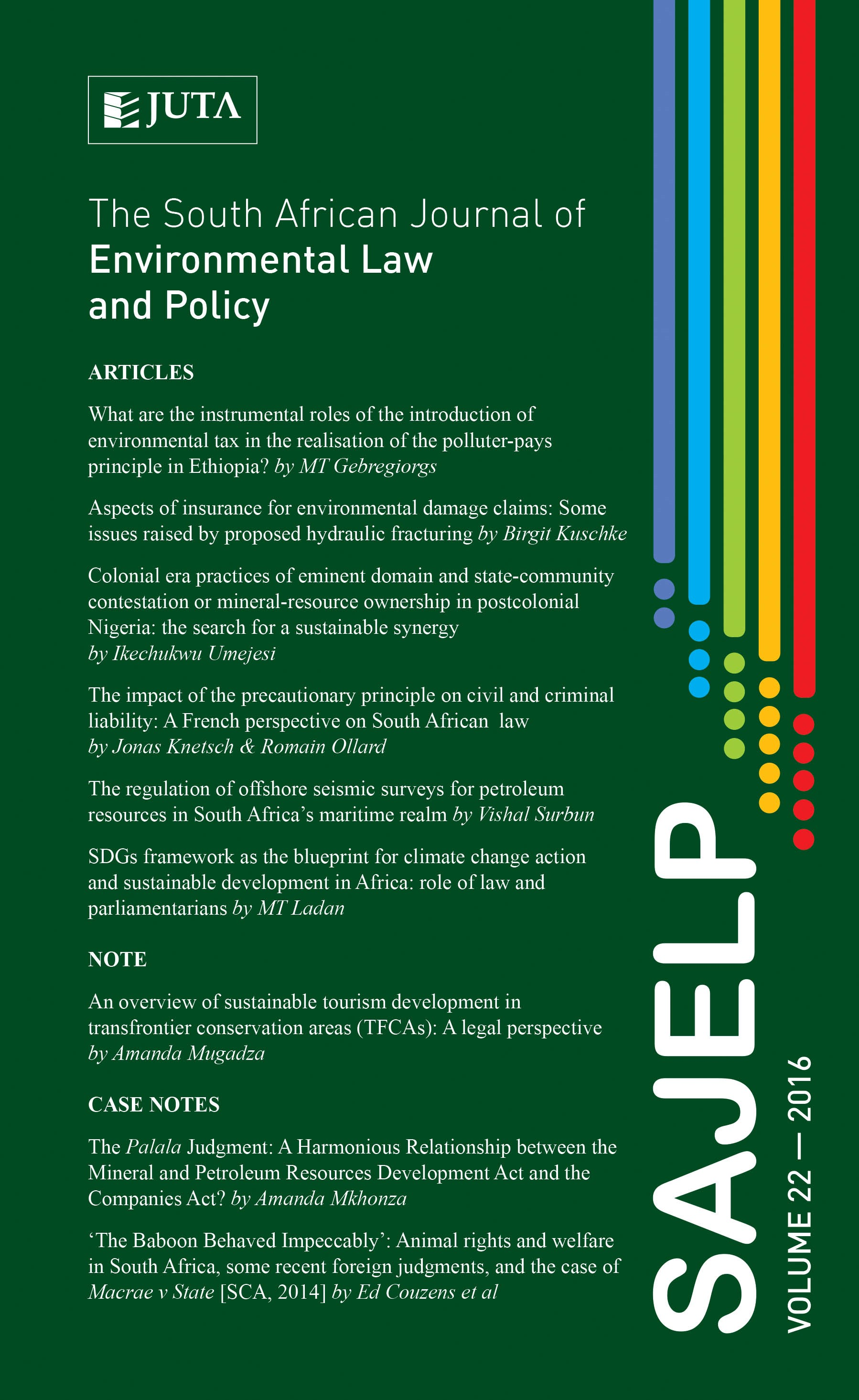 South African Journal of Environmental Law and Policy