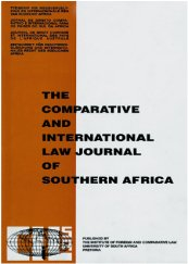 Comparative and International Law Journal of Southern Africa