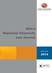 Africa Nazarene University Law Journal
