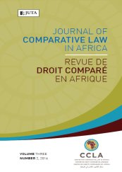 Journal of Comparative Law in Africa