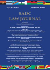 SADC Law Journal