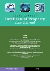 South African Intellectual Property Law Journal